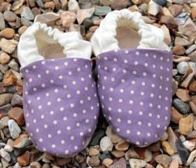 Baby booties, Purple..
