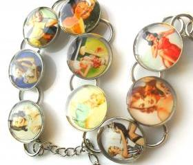 Pin Up Girl Bracelet