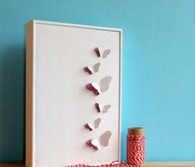 Framed Butterfly Art..