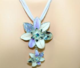 Flower Necklace - Pu..