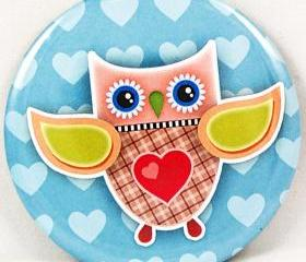 Pocket mirror - Owl ..