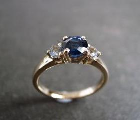 Blue Sapphire and Wh..