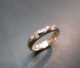 14K Rose Gold Diamon..