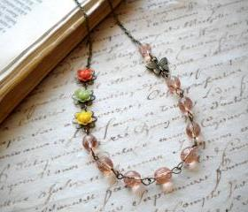 Flower Necklace Peac..