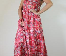 Red Maxi Dress Bohem..