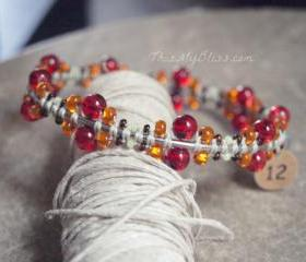 Beaded bangle bracel..