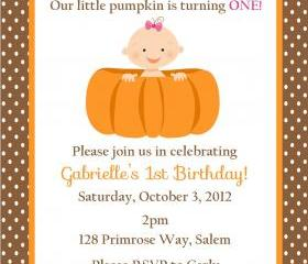 Pumpkin Birthday Inv..