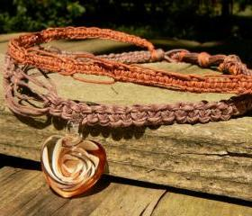 Hemp Necklace Featur..