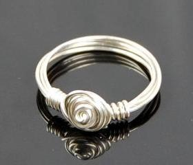 Sterling Silver Rose..