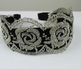 Lace headband head w..