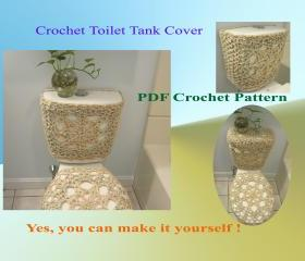 Crochet Pattern Toilet Tank Cover Front And Sides