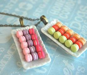 french macaron plate..