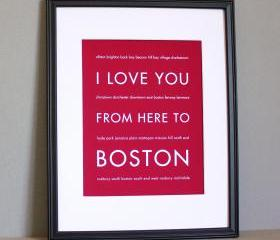 Boston Art Print , 8..