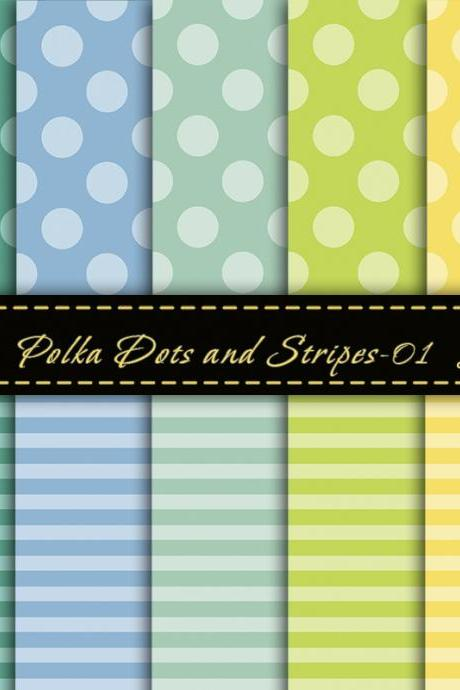 Trendy Colors Digital Paper, Digital Scrapbook Paper, Modern Digital Paper, Summer Colors, For Personal Or Commercial Use