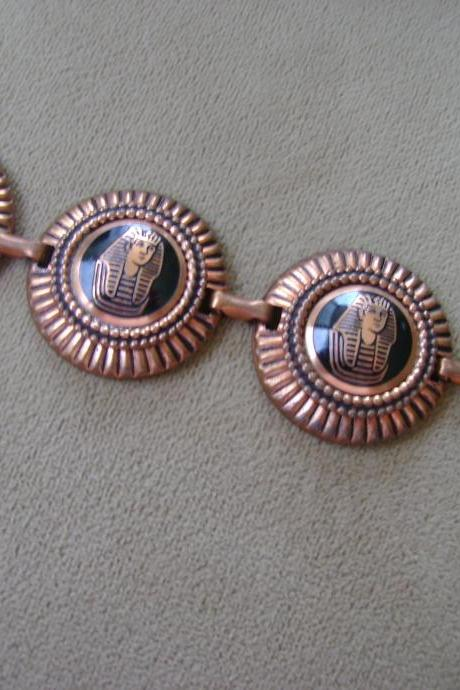 Vintage King Tut Copper Bracelet