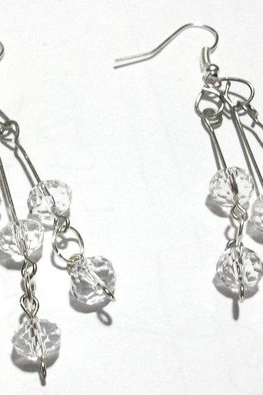 Swarovski Earrings, Cascading, Handmade, OOAK, Elegant, Wedding, Bridesmaid Gift