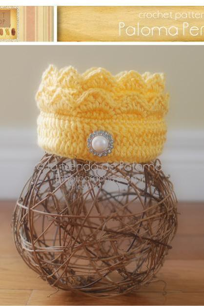 Crochet Baby Crown pattern - Baby Prince Crown - Photoprop crochet pattern
