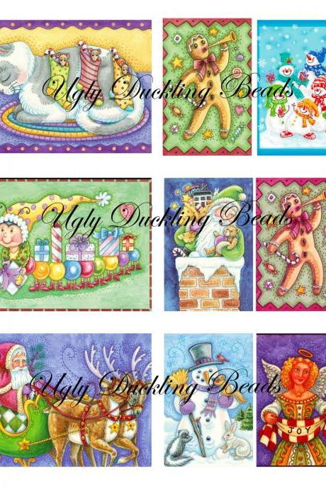 "Digital Images Collage Sheet - Clip Art Elements- Digital Scrapbooking- ""Christmas 1"""