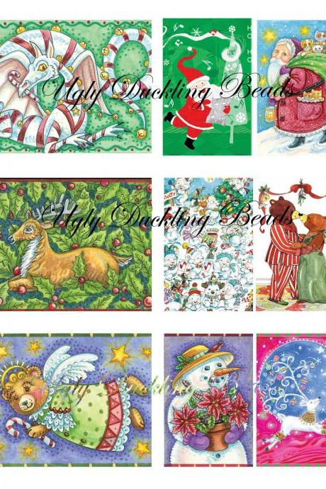"Digital Images Collage Sheet - Clip Art Elements- Digital Scrapbooking- ""Christmas 2"""