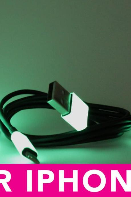 Glow in the Dark iPhone 5 Charger - 3-in-1 Black Glow in the Dark Black iPhone Charger - iPad Mini Charger - iPod Charger