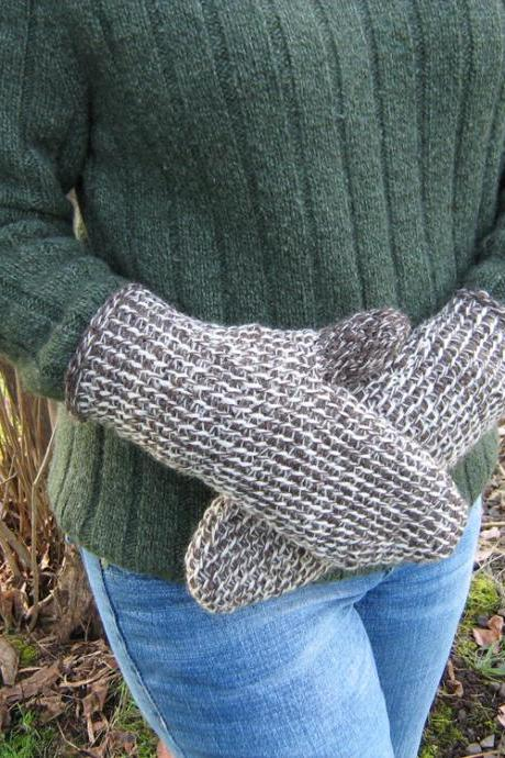 Men's Tunisian Mittens Size large