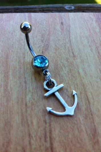 Anchor Belly Ring Sea Belly Ring Ocean Summer Belly Ring