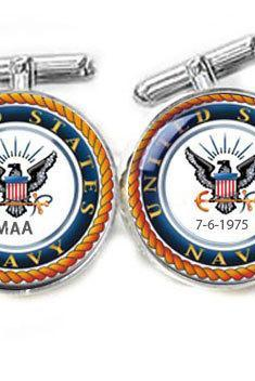 Navy Photo Cufflinks Customize Cufflinks personalized keepsake gift for him guys men father cuff links