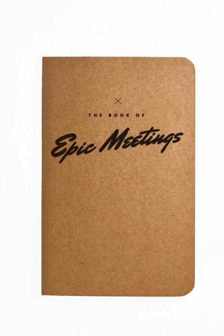 The book of Epic Meetings - Handmade Notebook