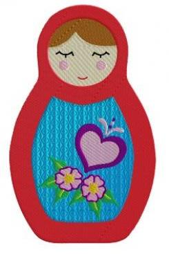 Babushka Doll Machine Embroidery pattern