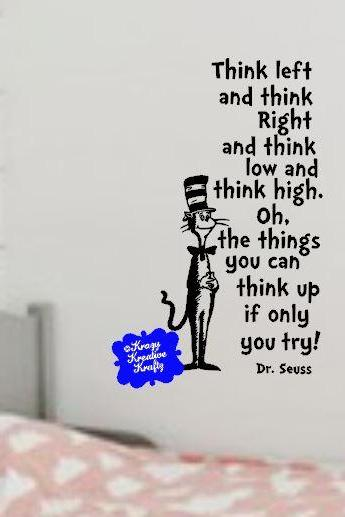 Think Poem Dr. Seuss Wall Decal