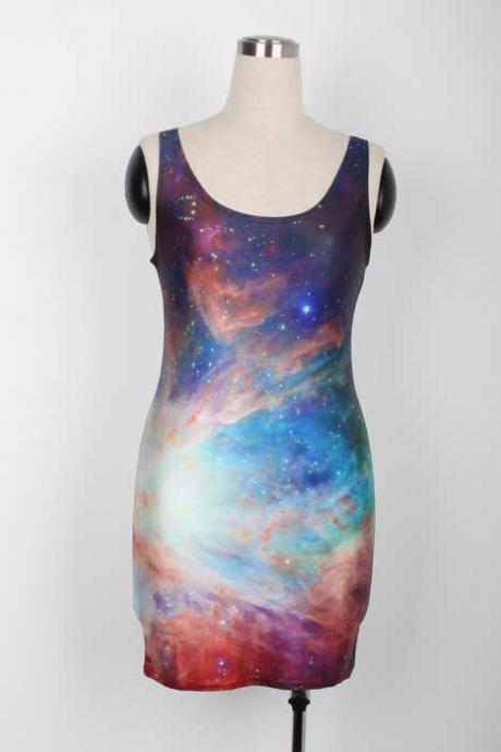 2013 New Arrival Galaxy Style high fashion bodycon Dress tank tops