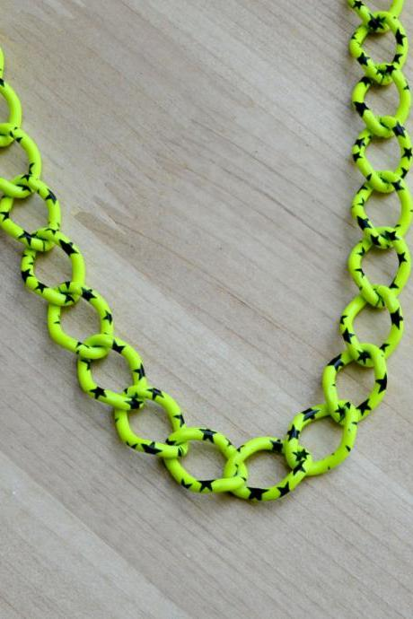 Stars on Neon Necklace