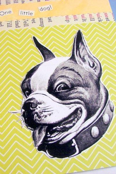 One Little Dog - Boston Terrier - Wall Art Decor Ready To Frame - Original Collage