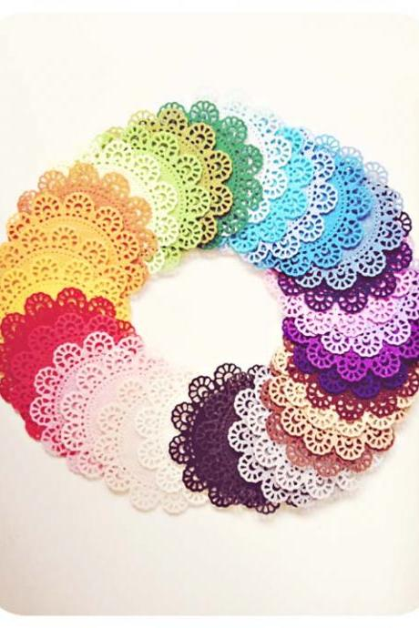 Doily Felt / Felt Doily for card making or scrap booking