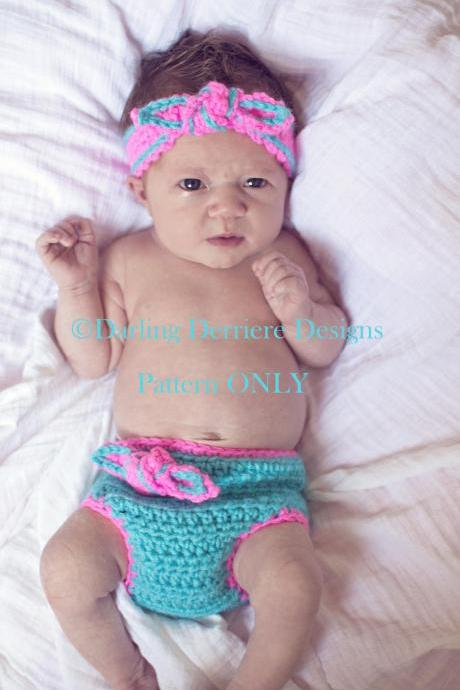 Knot Diaper Cover Headband Pattern