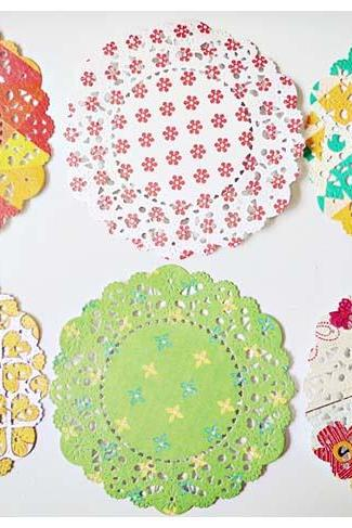Parisian Lace Doily Sweet Marmalade for Scrap booking or card making / pack