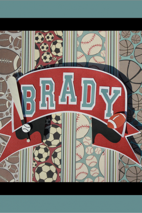 Retro Sport's Themed Child's Name - 3D Wall Art - UNFRAMED