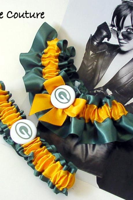 Packers garter - Wedding Garter Set - Green Bay Packers
