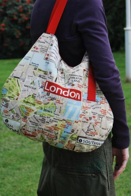 Hobo bag from - travel with 5 pockets to put everything by El rincón de la Pulga