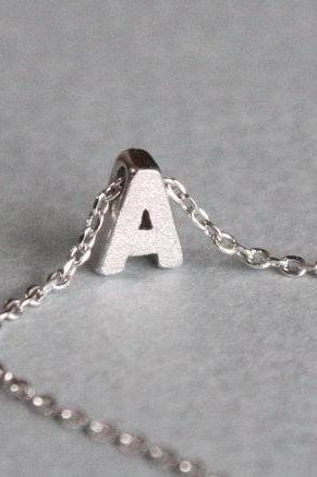 Tiny initial A necklace, personalized necklace, initial jewelry