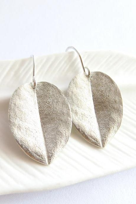 Medium ohi'a leaf earrings