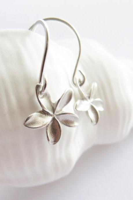 Tiny plumeria earrings
