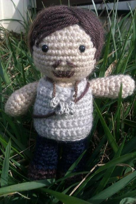 Daryl Dixon Collectable Doll -- The Walking Dead -- Crochet Amigurumi Made to Order