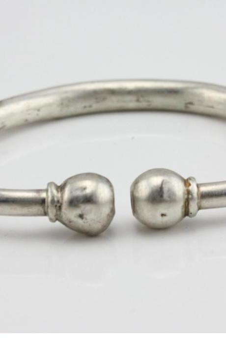 Sterling Silver Jewelry Antique Bracelet Abstract Clasp Bangle 20g