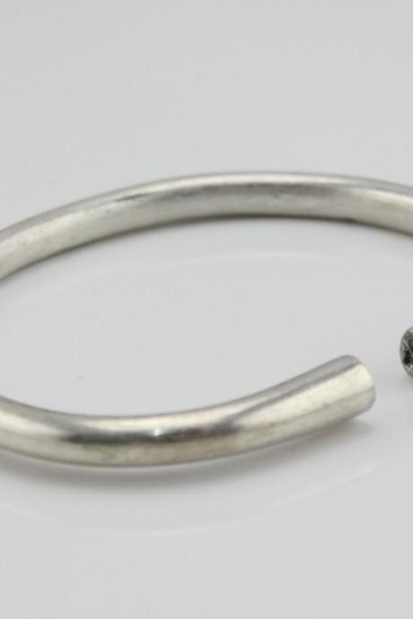 Antique Jewelry Sterling Silver Bracelet Vintage Clasp Bangle 46g