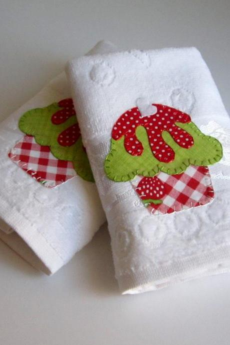 Tea towel . Kitchen towel . 2 pcs Towel
