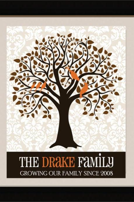 Custom Family Tree//weddig gift//monogram //Family Monogram Tree