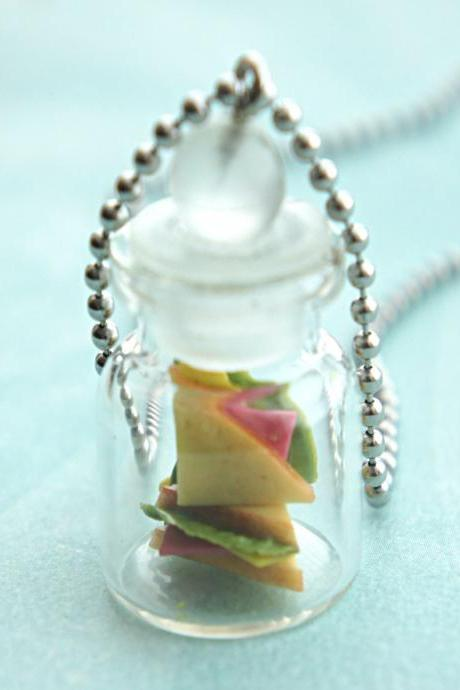 ham sandwich in a jar necklace
