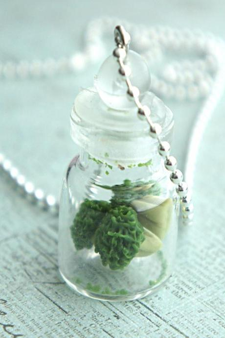broccoli in a jar necklace