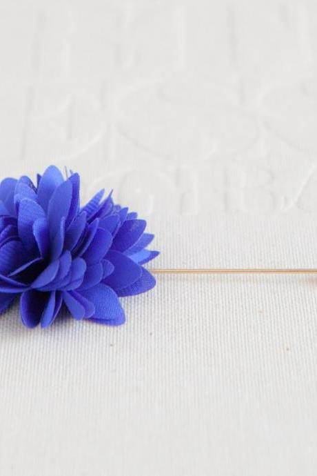 KAYLA-Blue Men's flower Boutonniere / Buttonhole for wedding,Lapel pin,tie pin
